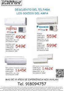 Oferta aire acondicionado AMPA
